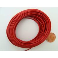Fil polyester ciré Rouge 1mm en écheveau de 10 mètres