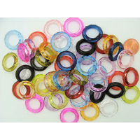 Anneaux acryliques 20mm mix couleurs translucides par 50 pcs