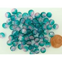 Perles verre Craquelé ronds 6mm Vert Rose par 60 pcs