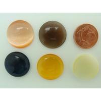 Cabochon Oeil de Chat Ronds 18mm Mix Couleurs par 5 pcs