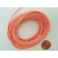 Fil polyester ciré Rose Saumon 1mm en écheveau de 10 mètres
