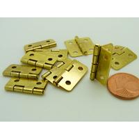 Charnières métal couleur dorée petites 19x16mm par 10 pcs