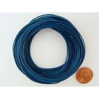 Fil polyester ciré Bleu Foncé 0,8mm en écheveau de 10 mètres