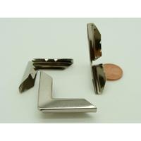 Angles 30mm avec griffes métal couleur argenté simple par 8 pcs