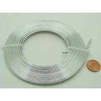 Fil Aluminium PLAT 3mmx1mm ARGENTE par 5 mètres