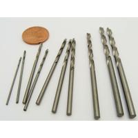 10 forets mèches pour perceuse mini outillage 0,8 à 3mm
