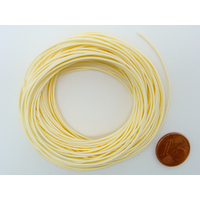 Fil polyester ciré Crème 0,8mm en écheveau de 10 mètres
