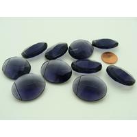 Lot 10 perles ovales violettes 27mm verre facette PV-lot161