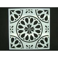 Pochoir 15x15cm Fleur Rosace carreau de ciment Mod02