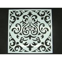 Pochoir 15x15cm carreau de ciment Fleur Mod01