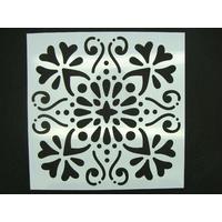 Pochoir 15x15cm Fleur carreau de ciment Mod03