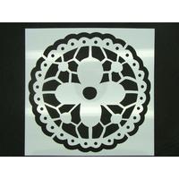 Pochoir 15x15cm Fleur napperon carreau de ciment Mod08