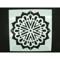 Pochoir 15x15cm motif grande fleur rosace carreau de ciment Mod13