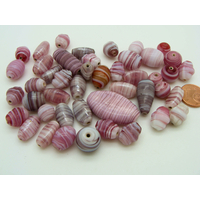 Mix Perles verre lampwork tons violets par 75 grammes