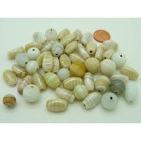 Mix Perles verre lampwork tons clairs par 75 grammes