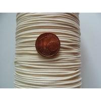 Bobine Fil polyester ciré Crème 1mm par 160 mètres