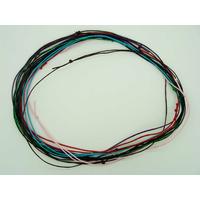 Collier monté Mix Couleurs cordon coton ciré 1mm noeuds coulissant par 10 pcs