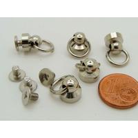 Mini Poignées anneau 10mm fixation vis métal couleur argenté par 5 pcs