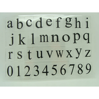 36 tampons silicone Alphabet Lettres minuscules et chiffres