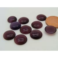 Cabochons verre Oeil de Chat Ronds 10mm Violet par 10 pcs