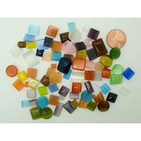Cabochons verre Oeil de Chat Mix formes et couleurs par 30 grammes