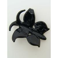 Mini Pendentif Papillon noir corps noir 20mm en verre lampwork