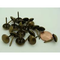 Clous Tapissier Tête lisse 11mm Hauteur 17mm couleur Bronze par 20 pcs