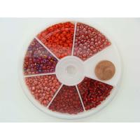 Rocaille 3mm 6 couleurs ROUGE MOD18 par 1 boîte