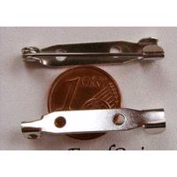 Supports BROCHES épingle metal argenté 30 mm par 4 pcs