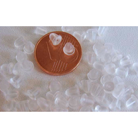 Poussoirs embouts pour boucles d'oreille clous puce Plastique par 100 pcs