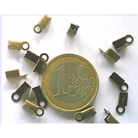 Embouts à écraser 6mm BRONZE par 100 pcs