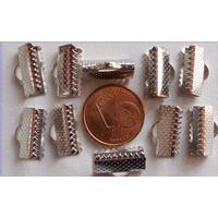Embouts pour ruban 13mm ARGENT VIEILLI par 10 pcs
