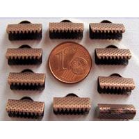 Embouts pour ruban 13mm CUIVRE par 10 pcs