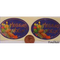 Etiquettes MEILLEURS VOEUX par 15 pcs