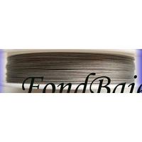 FIL CABLE 0,38mm GRIS ARGENTE par 1 bobine/100m