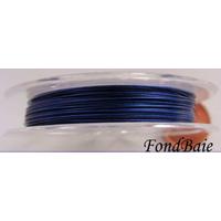 FIL CABLE 0,38mm BLEU MARINE par 1 bobine/10m
