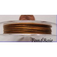 FIL CABLE 0,38mm VIEIL OR par 1 bobine/10m