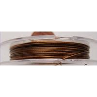 FIL CABLE 0,38mm MARRON par 1 bobine/10m
