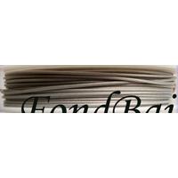 FIL CABLE 1mm GRIS ARGENTE par 1 bobine/10m