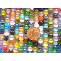Perles verre Oeil de Chat rondes 6mm MIX par 60 pcs