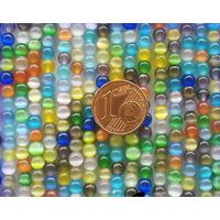Perles verre Oeil de Chat rondes 4mm MIX par 95 pcs