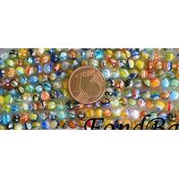 Perles verre très coloré rondes 4mm MIX par 98 pcs