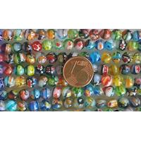 Perles verre très coloré rondes 6mm MIX par 65 pcs
