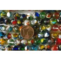 Perles verre très coloré rondes 8mm MIX par 48 pcs