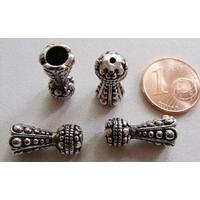Perles Métal argenté vieilli CONES 16x7mm par 10 pcs