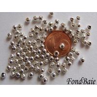 Perles Métal argenté CLAIR RONDES INTERCALAIRES 3mm par 100 pcs