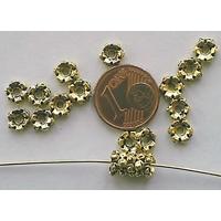 Perles Métal Doré RONDELLES 5,5mm par 20 pcs