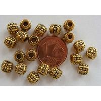 Perles Métal Doré OLIVE pointille 6mm par 20 pcs