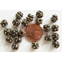 Perles Métal Bronze RONDELLES Double pointes par 20 pcs