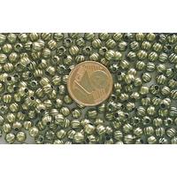 Perles Métal Bronze RONDES creuses 4mm par 20 pcs